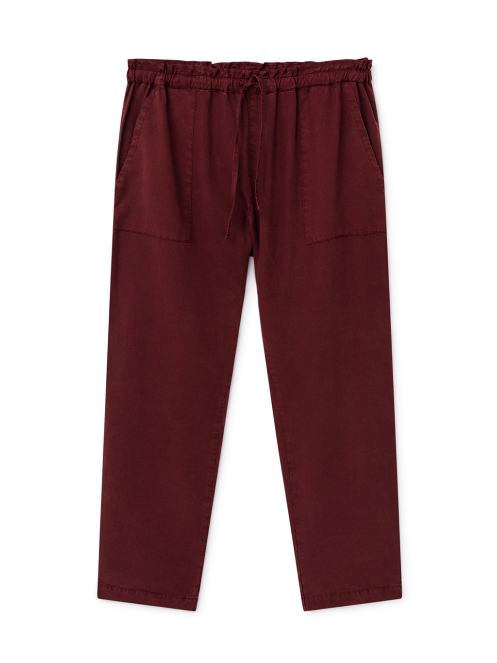 TWOTHIRDS Womens Pants: Barra - Burgundy front