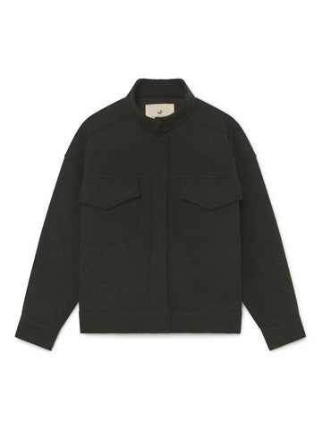 TWOTHIRDS Womens Jacket: Batan - Dark Green front