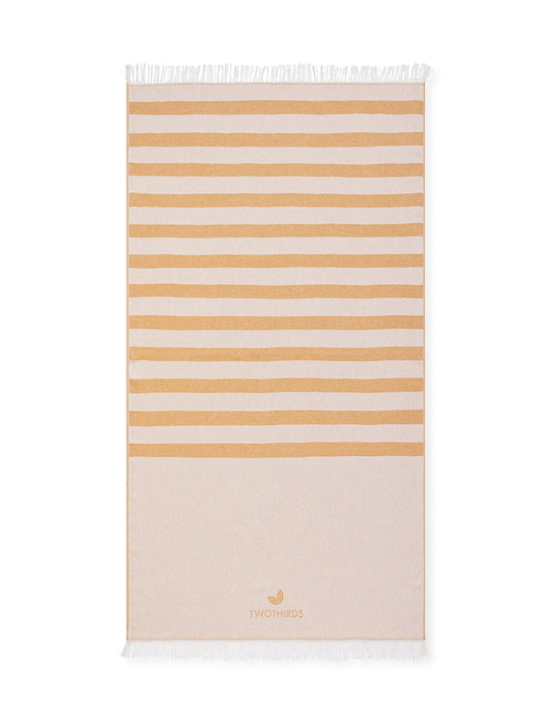 Beach Blanket - Mustard Stripes