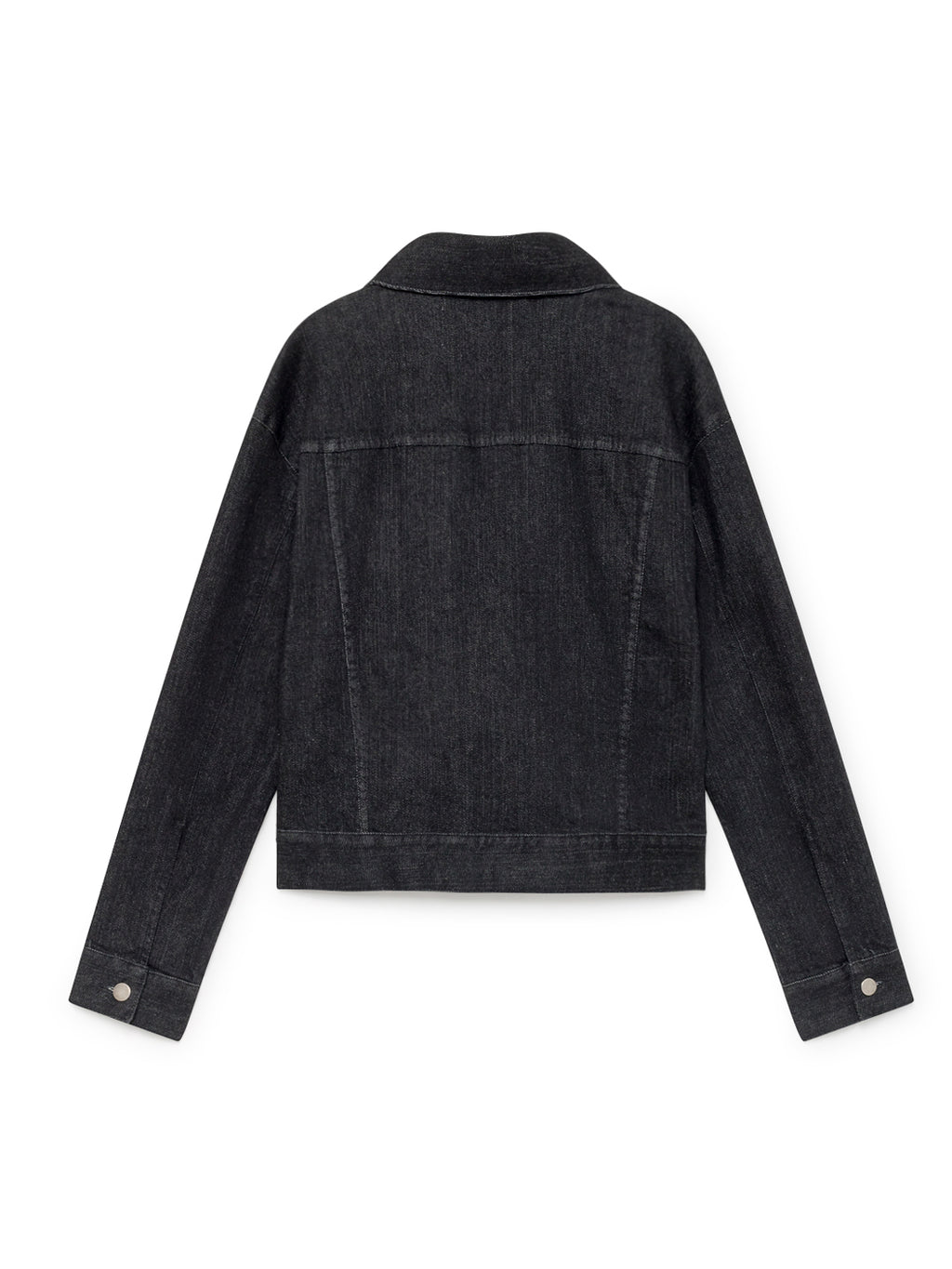 TWOTHIRDS Womens Jacket: Bellona - Black Denim back