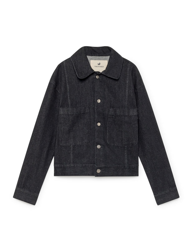 TWOTHIRDS Womens Jacket: Bellona - Black Denim front