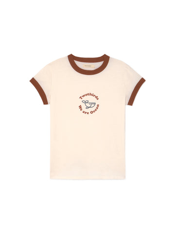 TWOTHIRDS Womens Tee: Boracay - Ecrue front