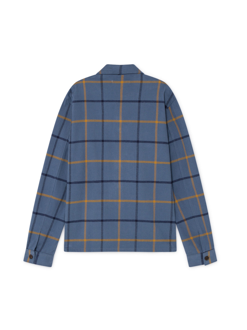 TWOTHIRDS Mens Shirt: Briñas - Blue Check back