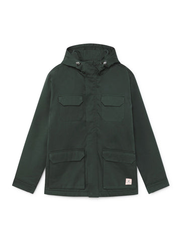 TWOTHIRDS Mens Jacket: Cameron - Dark Green front