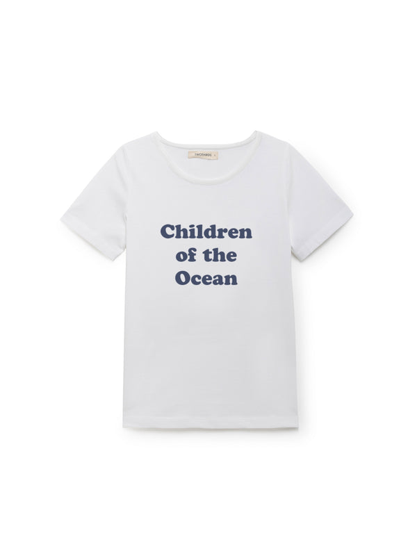 TWOTHIRDS Kids Tee: Children of the Ocean Kids - White front