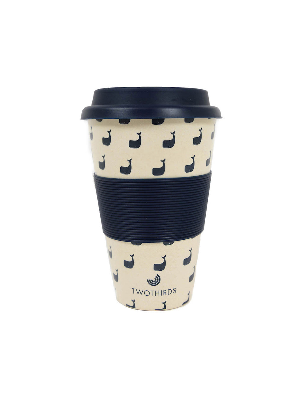 Coffee Cup Whale Allover - White