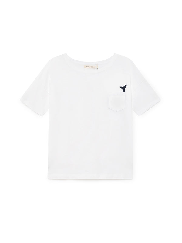 TWOTHIRDS Womens Tee: Eubea - White front