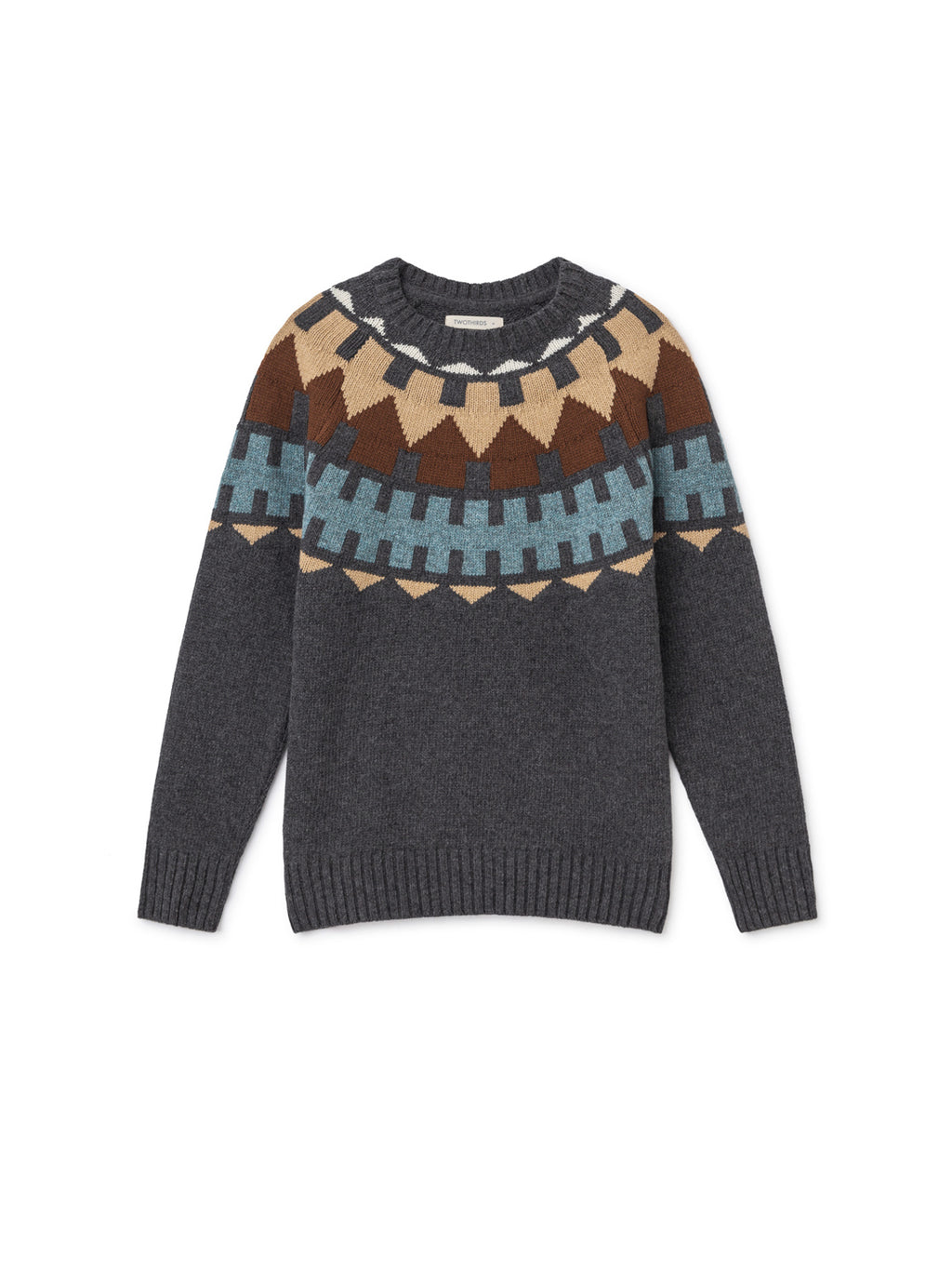 TWOTHIRDS Womens Knit: Foula - Grey front