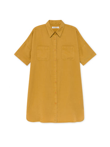 TWOTHIRDS Womens Dress: Fourni - Mustard front
