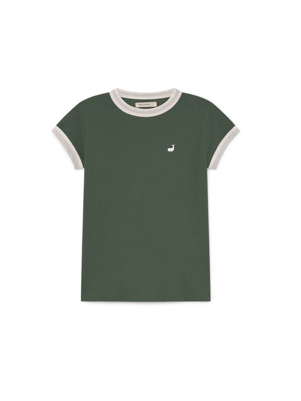 TWOTHIRDS Womens Tee: Garrido - Dark Green front