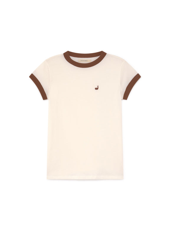 TWOTHIRDS Womens Tee: Garrido - White front