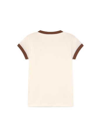 TWOTHIRDS Womens Tee: Garrido - White back