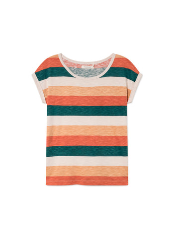 TWOTHIRDS Womens Tee: Gortina - Striped front