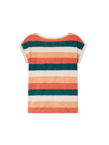 TWOTHIRDS Womens Tee: Gortina - Striped back