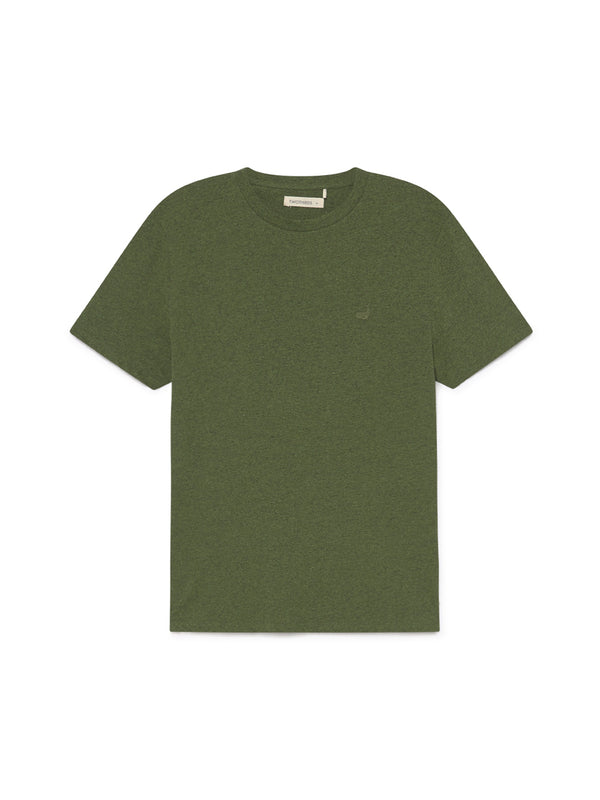 TWOTHIRDS Mens Tee: Graham - Dark Green front
