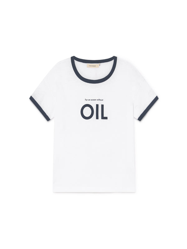 TWOTHIRDS Womens Tee: Greta - OIL front