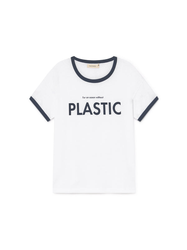 TWOTHIRDS Womens Tee: Greta - PLASTIC front