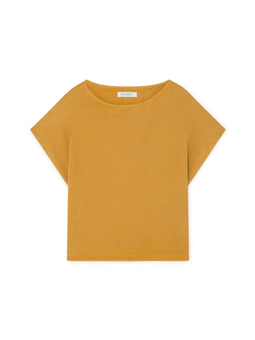 TWOTHIRDS Womens Top: Guafo - Mustard front