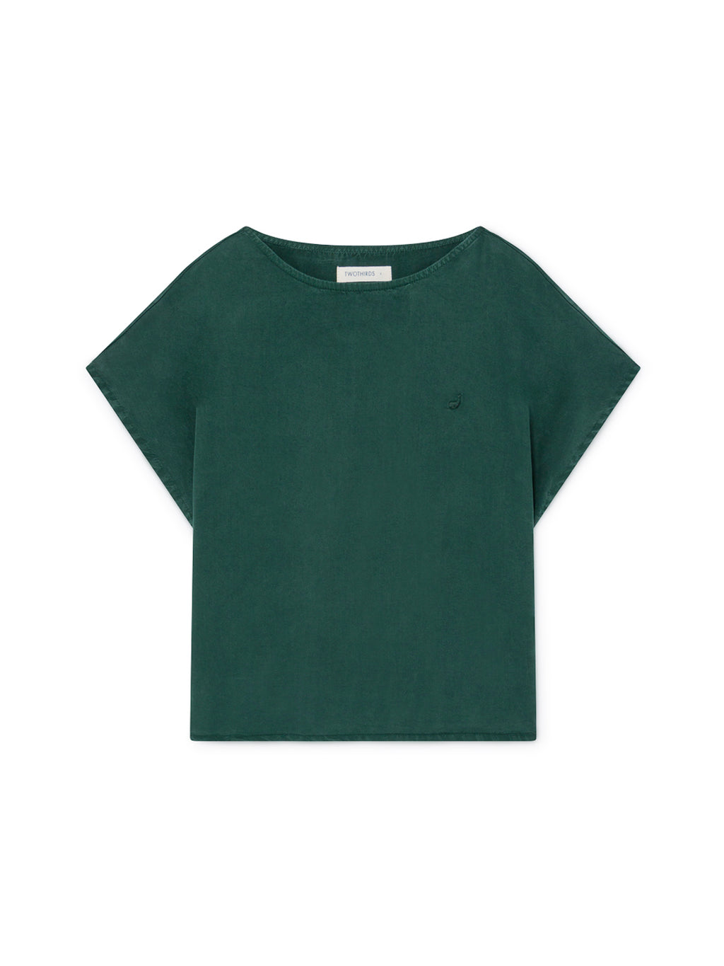 TWOTHIRDS Womens Top: Guafo - Trekking Green front