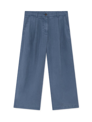 TWOTHIRDS Womens Pants: Hashima - China Blue front