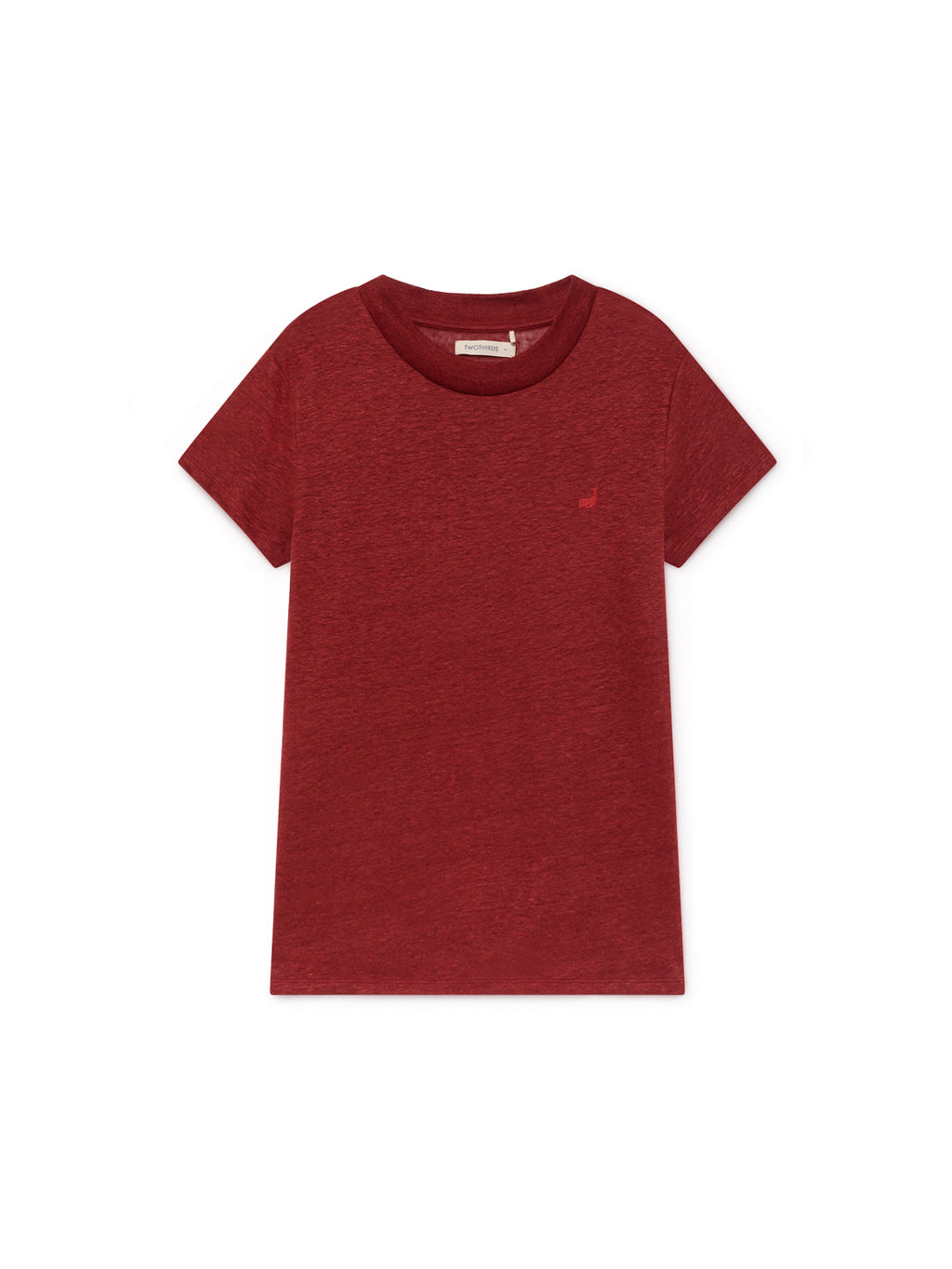TWOTHIRDS Womens Tee: Irabu - Burgundy front