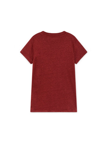 TWOTHIRDS Womens Tee: Irabu - Burgundy back
