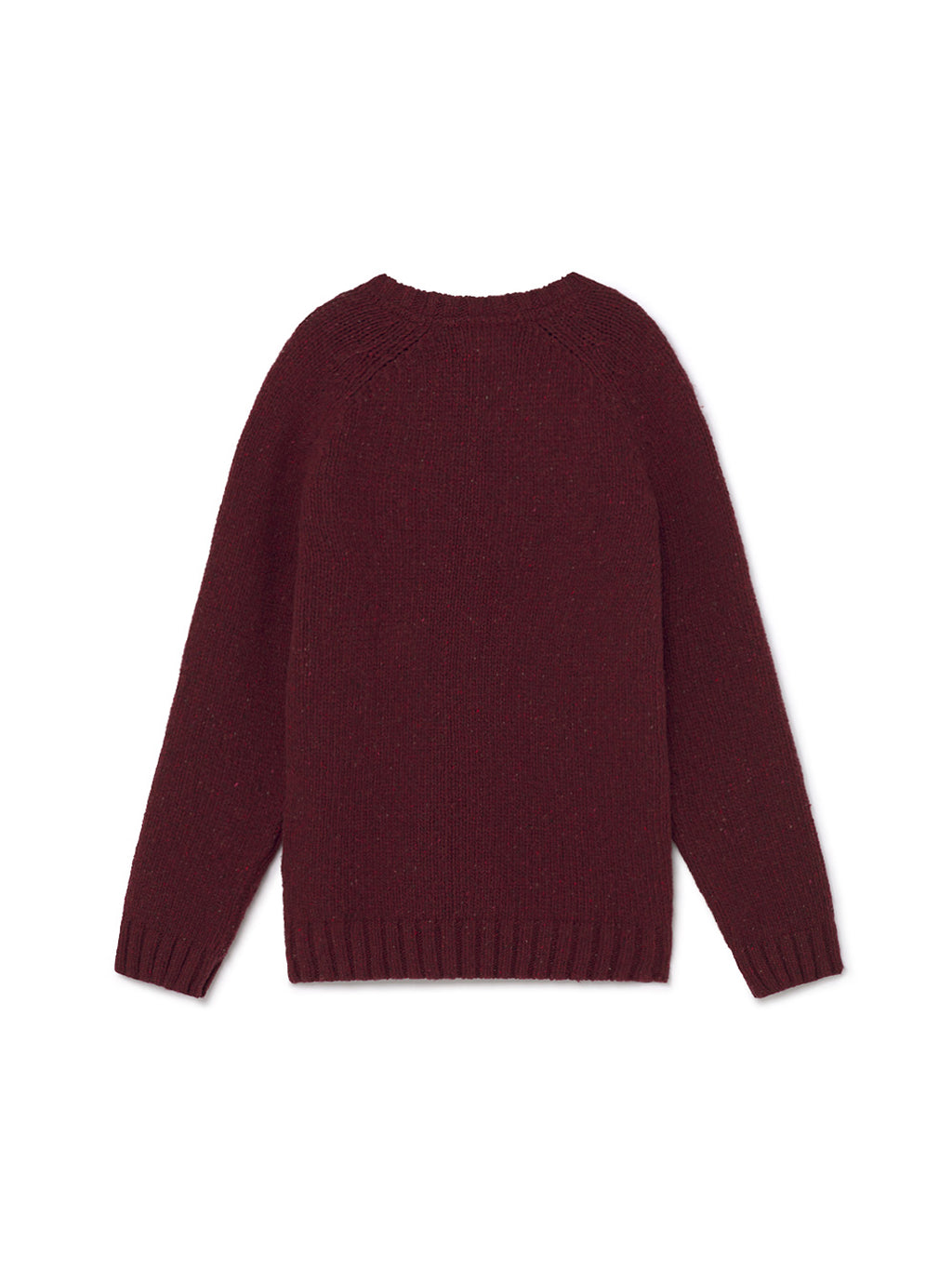 TWOTHIRDS Mens Knit: Jurmo - Burgundy back