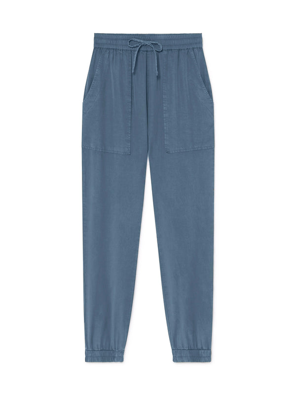 TWOTHIRDS Womens Pants: Kaafu - China Blue front