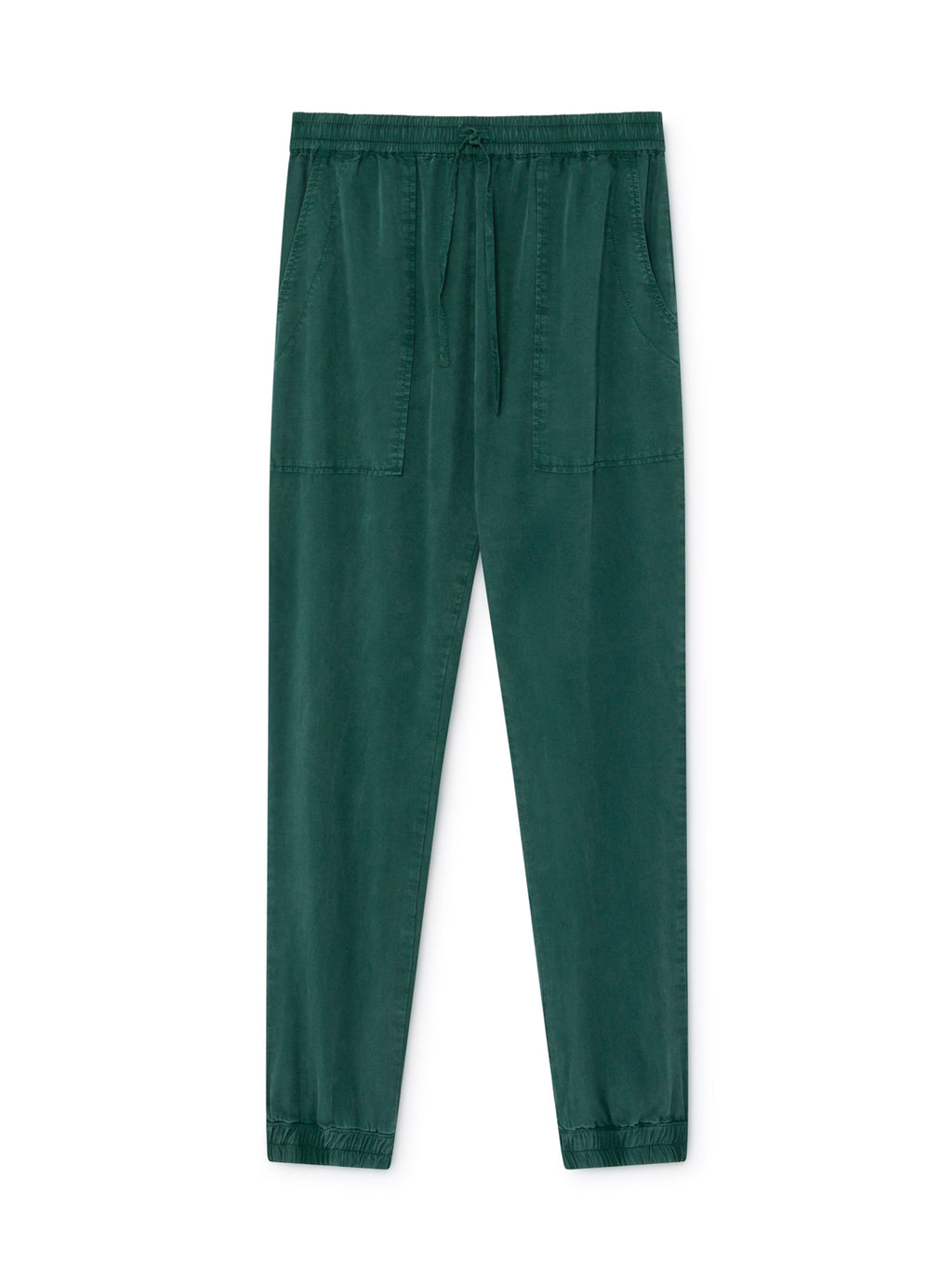TWOTHIRDS Womens Pants: Kaafu - Dark Green front