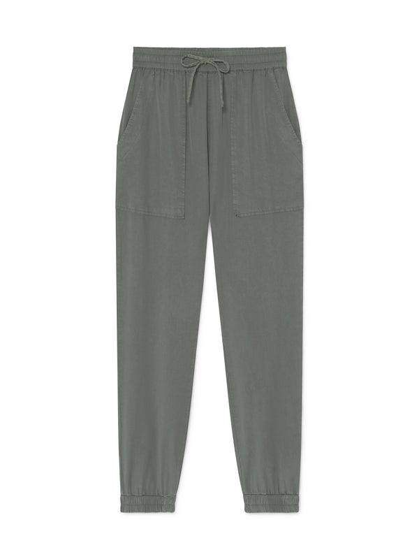 TWOTHIRDS Womens Pants: Kaafu - Washed Green front