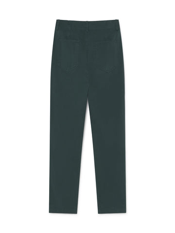 TWOTHIRDS Womens Pants: Kent - Dark Green back