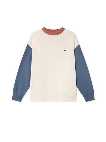 TWOTHIRDS Womens Sweat: Korsean - Dusty Blue front