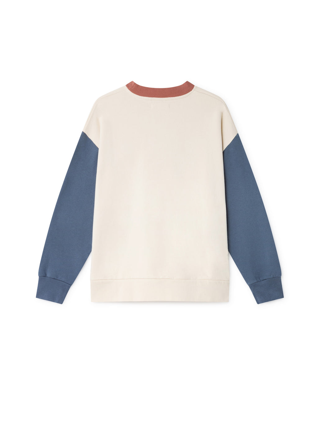 TWOTHIRDS Womens Sweat: Korsean - Dusty Blue back