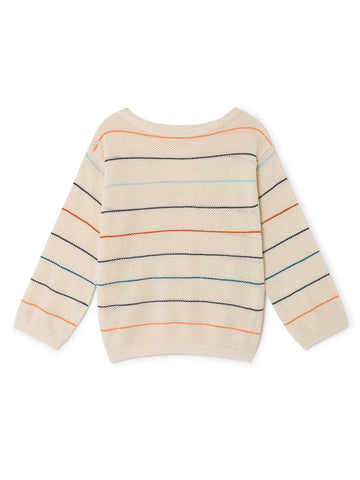 TWOTHIRDS Womens Knit: Las Gaviotas - Stripes front