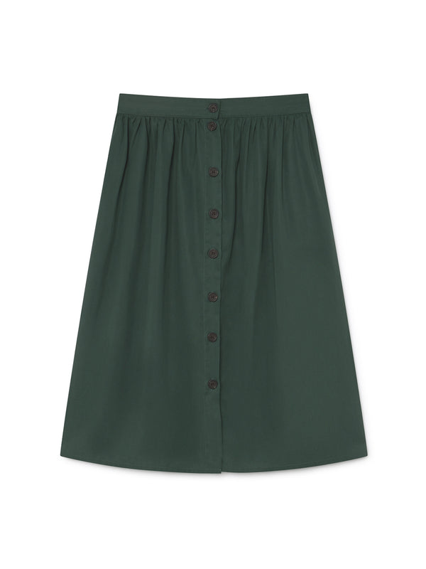 TWOTHIRDS Womens Skirt: Ma Wan - Dark Green front