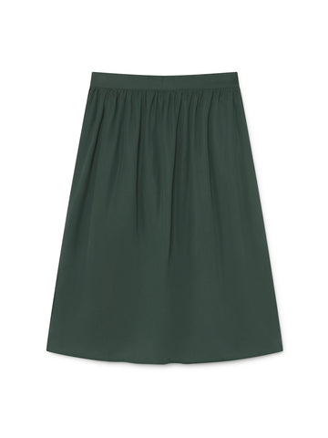 TWOTHIRDS Womens Skirt: Ma Wan - Dark Green back