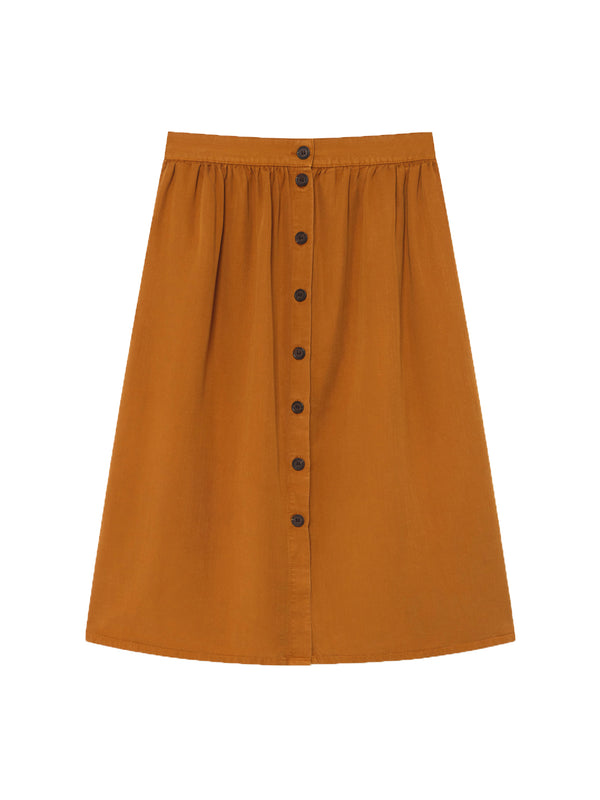 TWOTHIRDS Womens Skirt: Ma Wan - Dark Mustard front