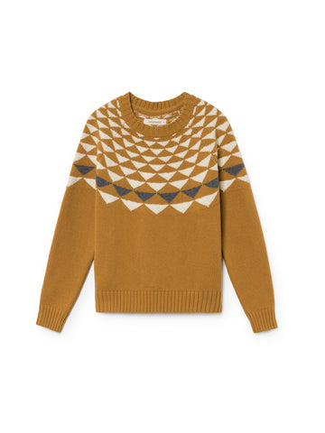 TWOTHIRDS Womens Knit: Mare Wool - Terracotta front