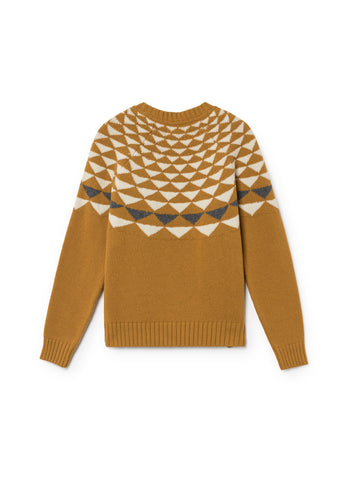 TWOTHIRDS Womens Knit: Mare Wool - Terracotta back