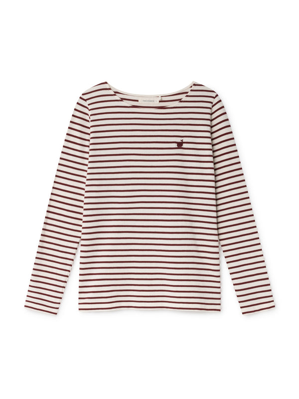 TWOTHIRDS Womens Tee: Martinica - Burgundy front
