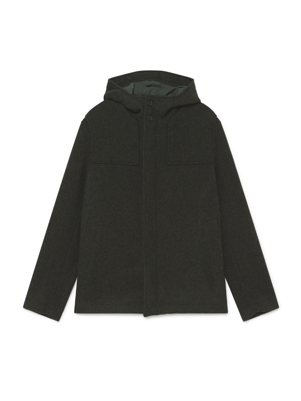 TWOTHIRDS Mens Jacket: Miquelon - Dark Green front
