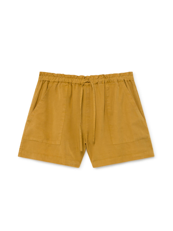 TWOTHIRDS Womens Shorts: Nero - Mustard front