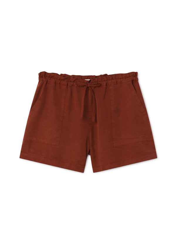 TWOTHIRDS Womens Shorts: Nero - Roof front