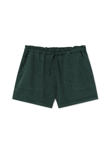 TWOTHIRDS Womens Shorts: Nero - Trekking Green front