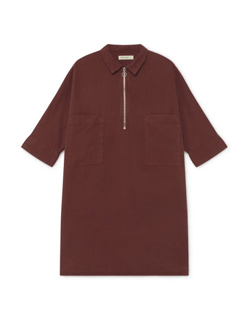 Okushiri Dress - Burgundy