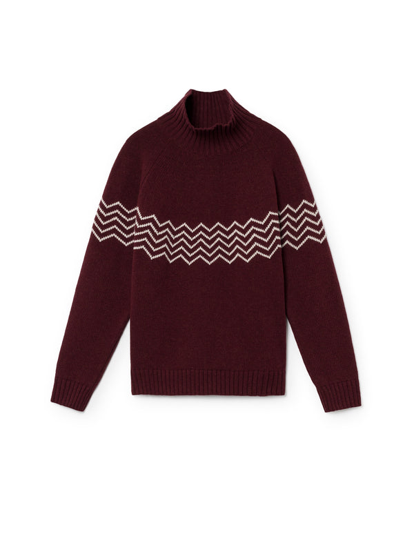 TWOTHIRDS Womens Knit: Ouvea - Burgundy front