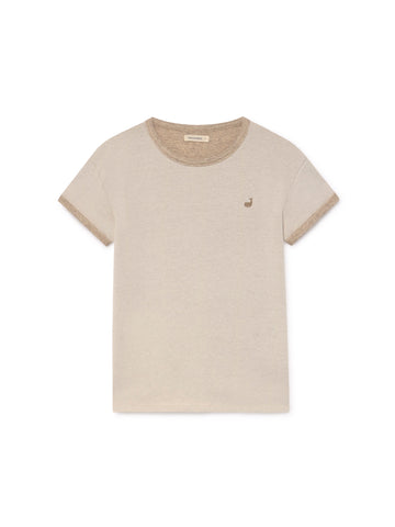 TWOTHIRDS Womens Tee: Palaui - Cream front