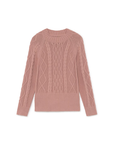 TWOTHIRDS Womens Knit: Pamalican - Dusty Pink front
