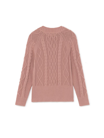 TWOTHIRDS Womens Knit: Pamalican - Dusty Pink back