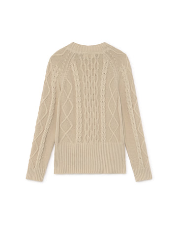 TWOTHIRDS Womens Knit: Pamalican - Ecrue back